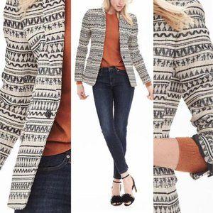 Banana Republic Jacquard Blazer Jacket Size 0
